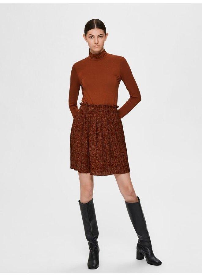 Slfkinsley short plisse skirt