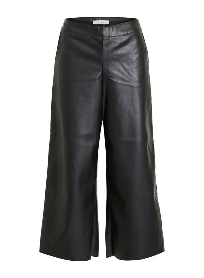 Vipen cropped coated pants Black