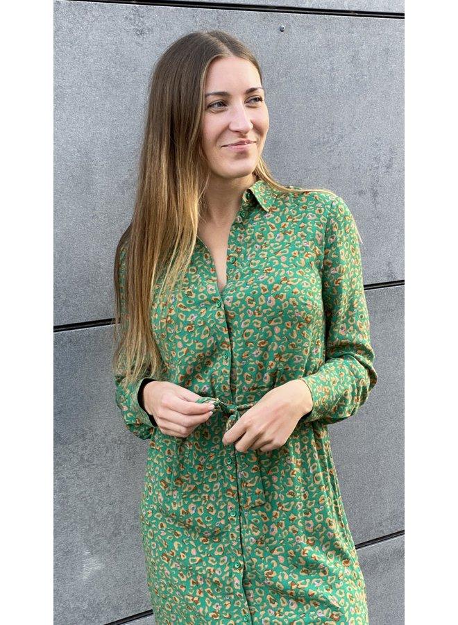Adeleide animal dress Green