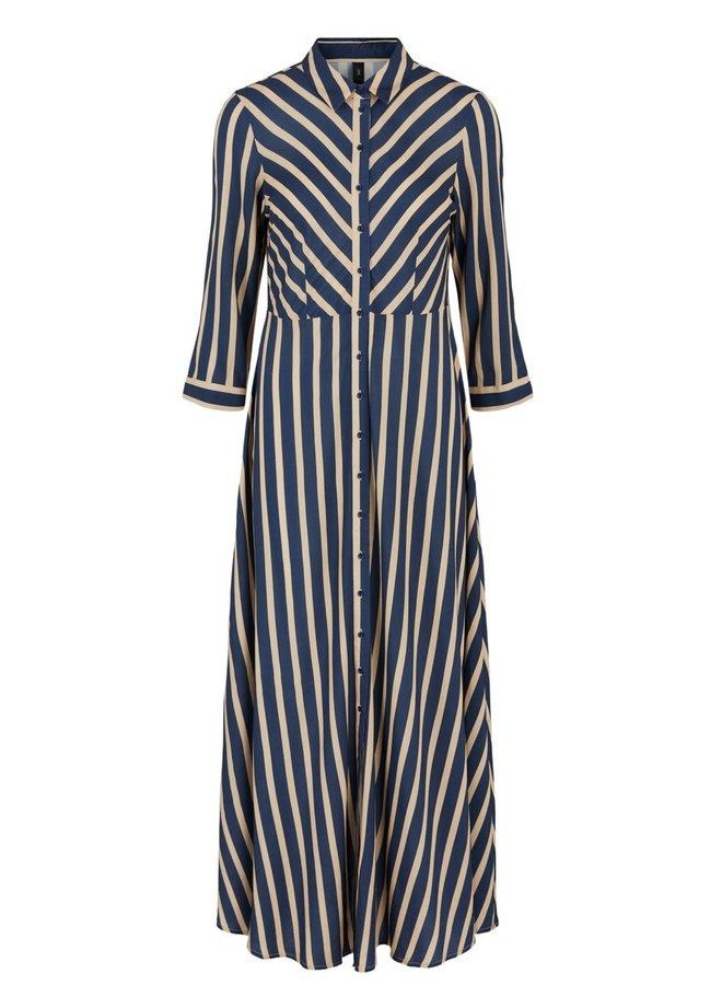 Yassavanna Stripe Long shirt Dress Blue