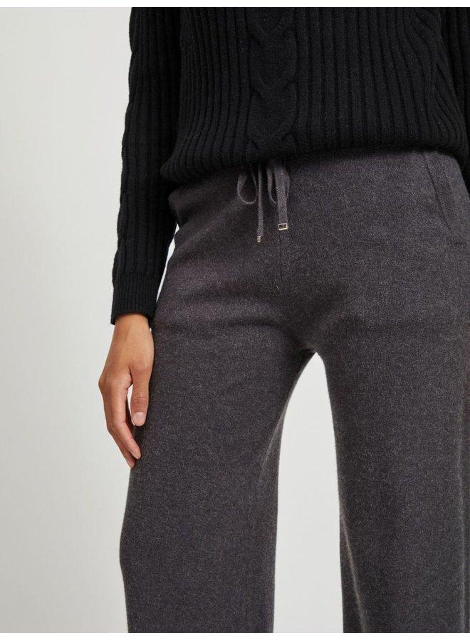 Viril Knit Straight Pants Grey