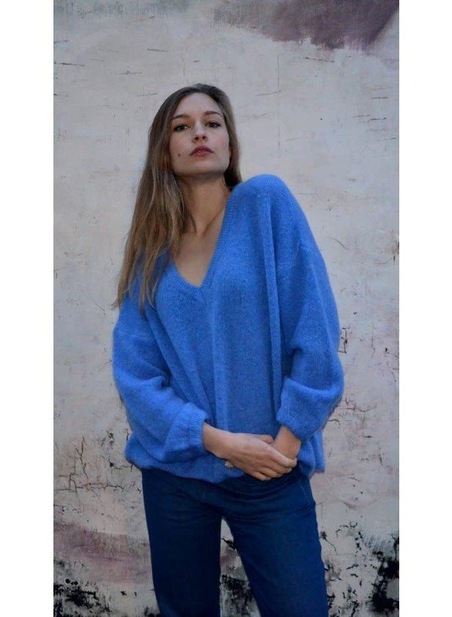 Lastra v-neck pull blue