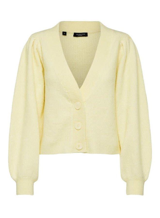 Slflipa Short Cardigan Yellow