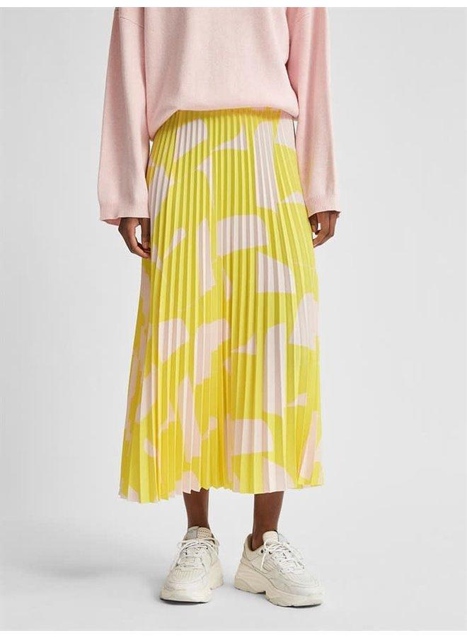 Slfalexis Midi Skirt Yellow