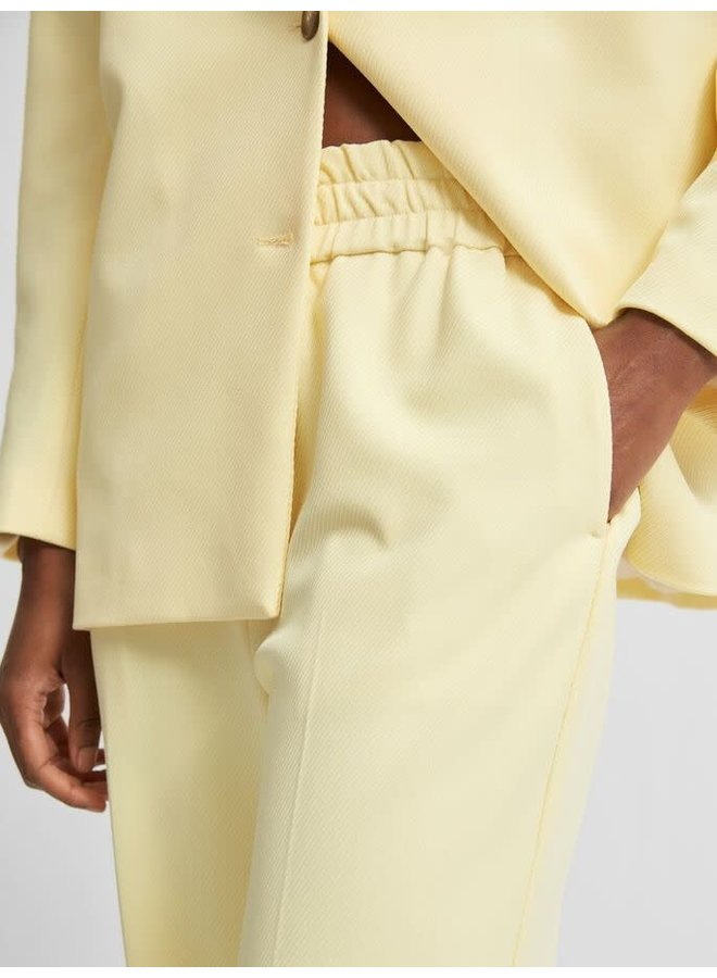 Slfmalli Straight Pant Pastel Yellow