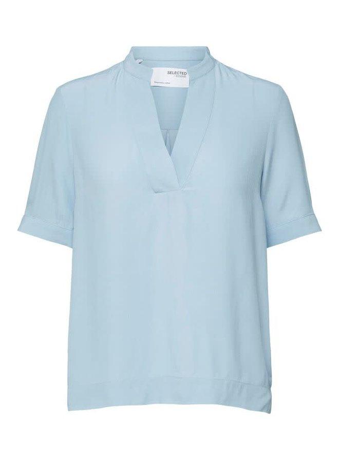Slfella Top Cashmere Blue