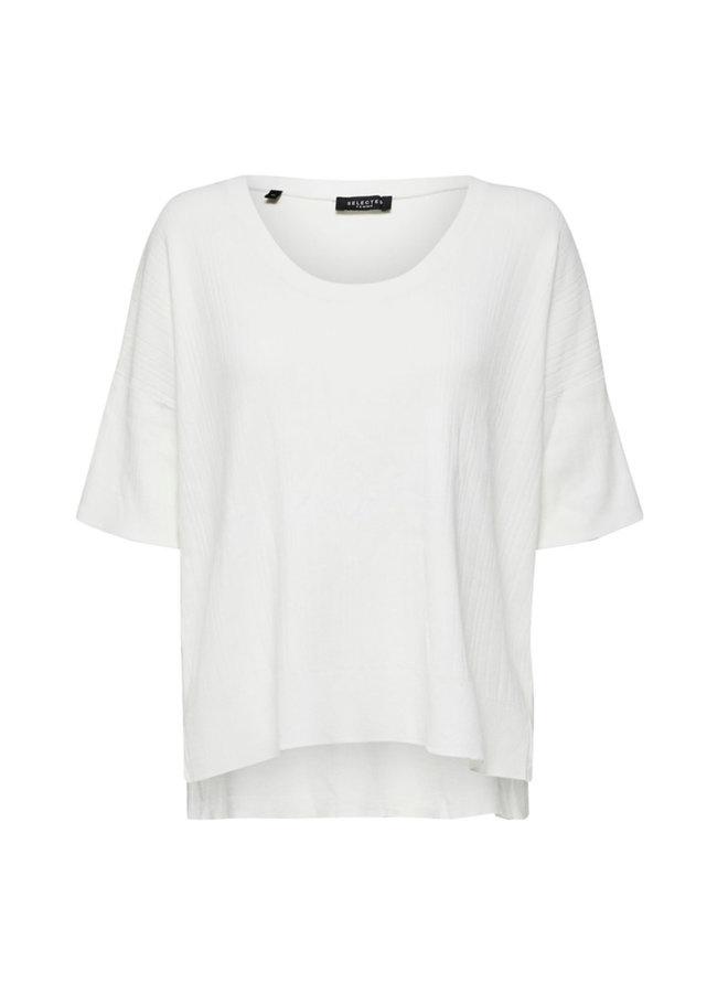 Slfwilma Knit Top White