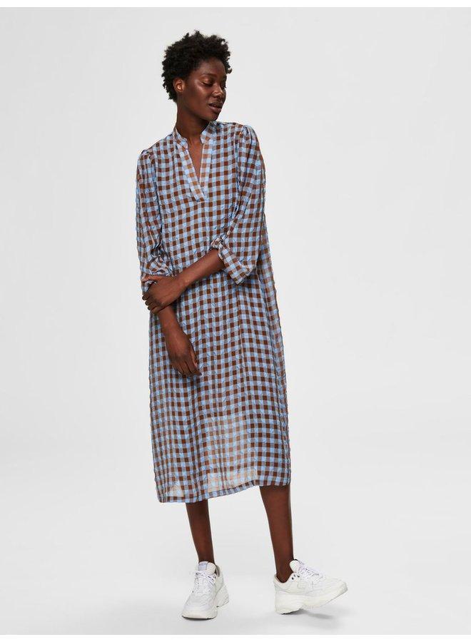 Slfsara 7/8 V-Neck Ankle Dress