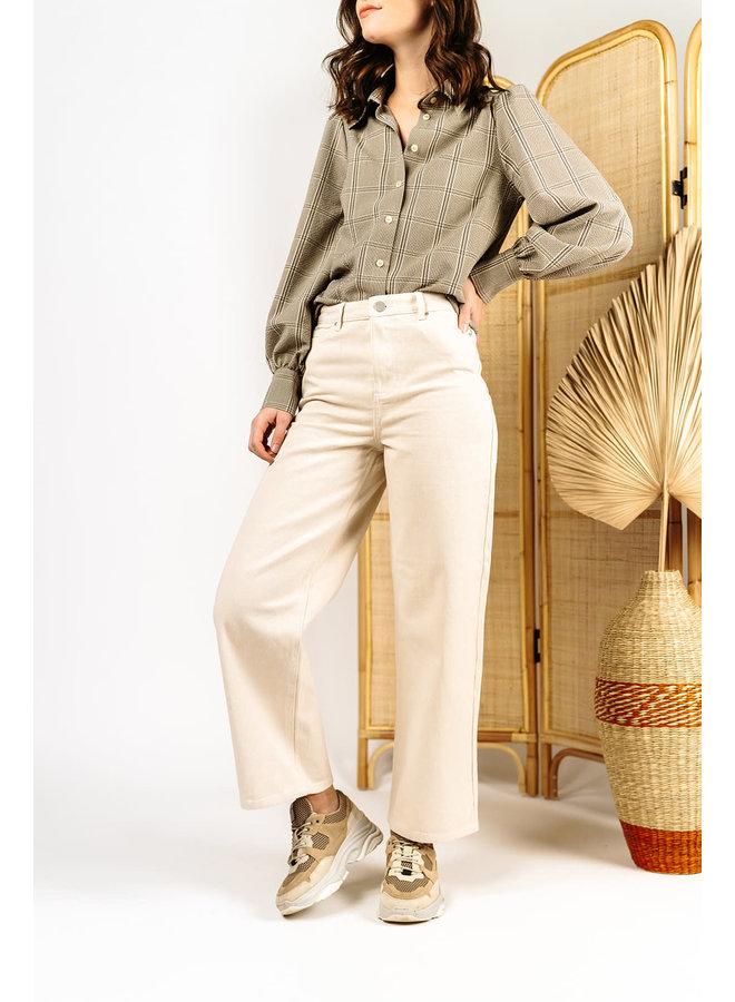 Vimoano 7/8 Wide Jeans Sand