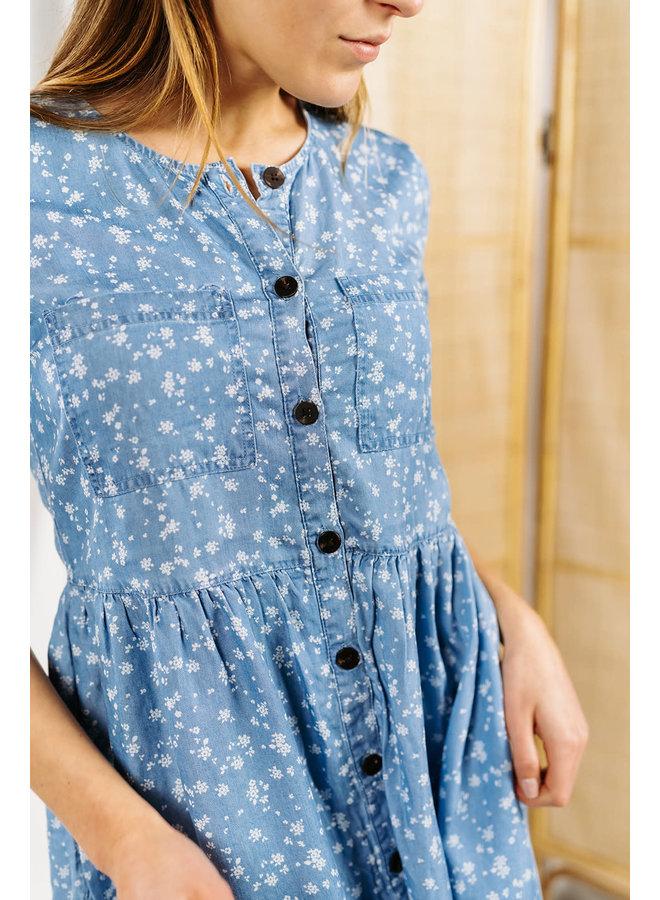 Viflikka Dress Jeans Flowers