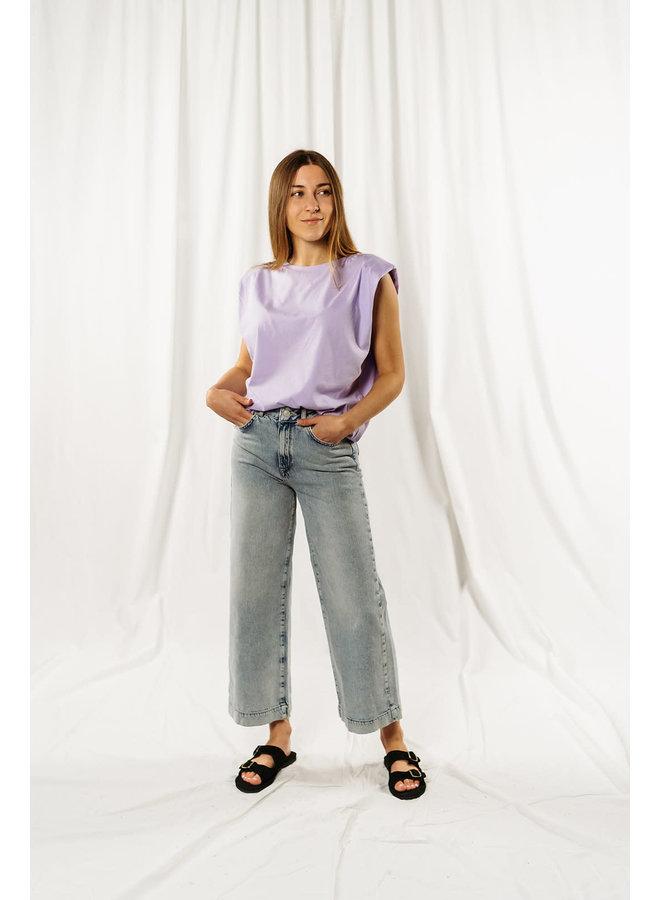 Slfthea Wide Crop Elli Blue Jeans
