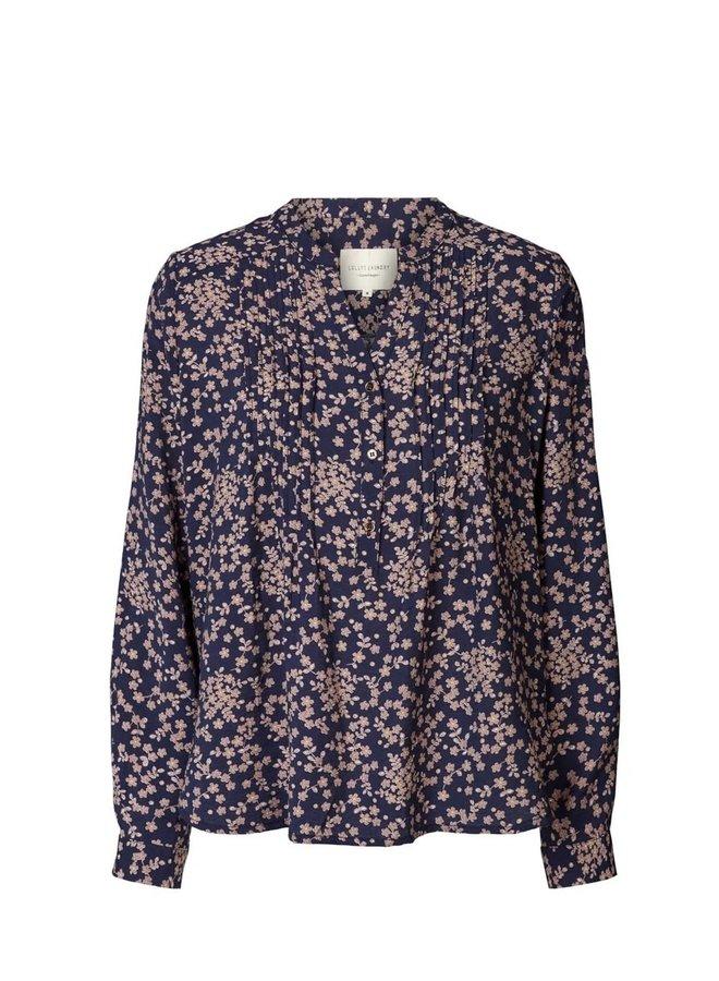 Helena Shirt Flower Print Navy