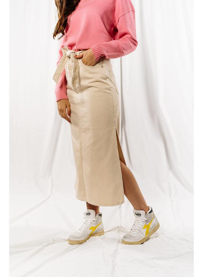 Slfalma Long Creme Skirt