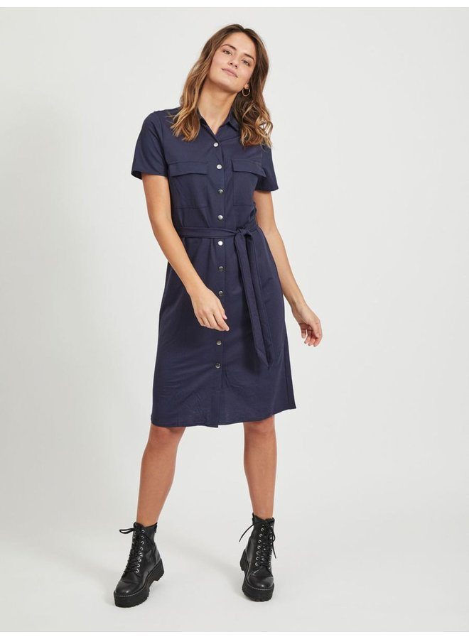 Visafina Shirt Dress Navy