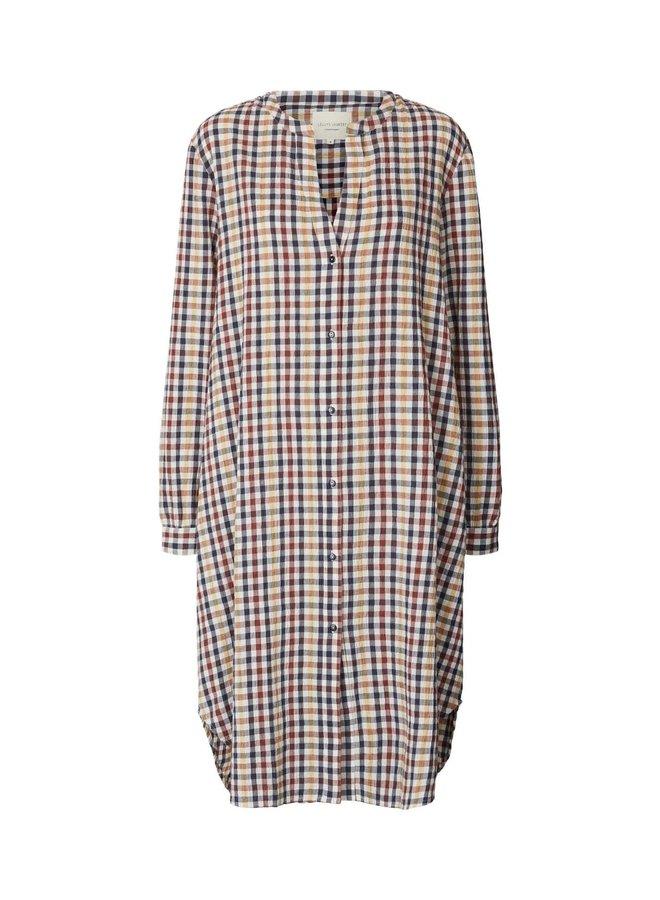 Basic Shirt Dress Check