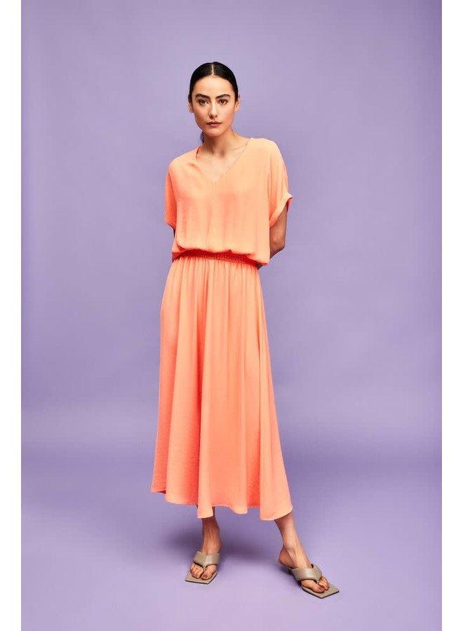 Lapelina Dress Neon Melon