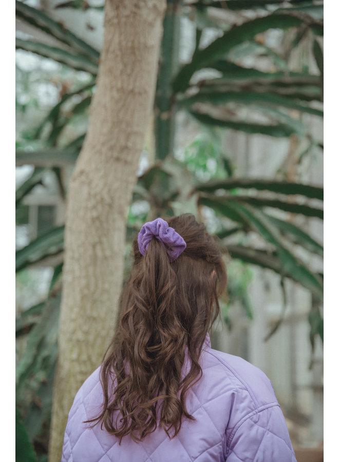 Belle Dark Purple Scrunchy