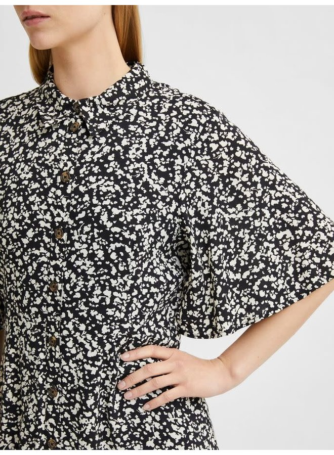 Slfuma Shirt Dress Black