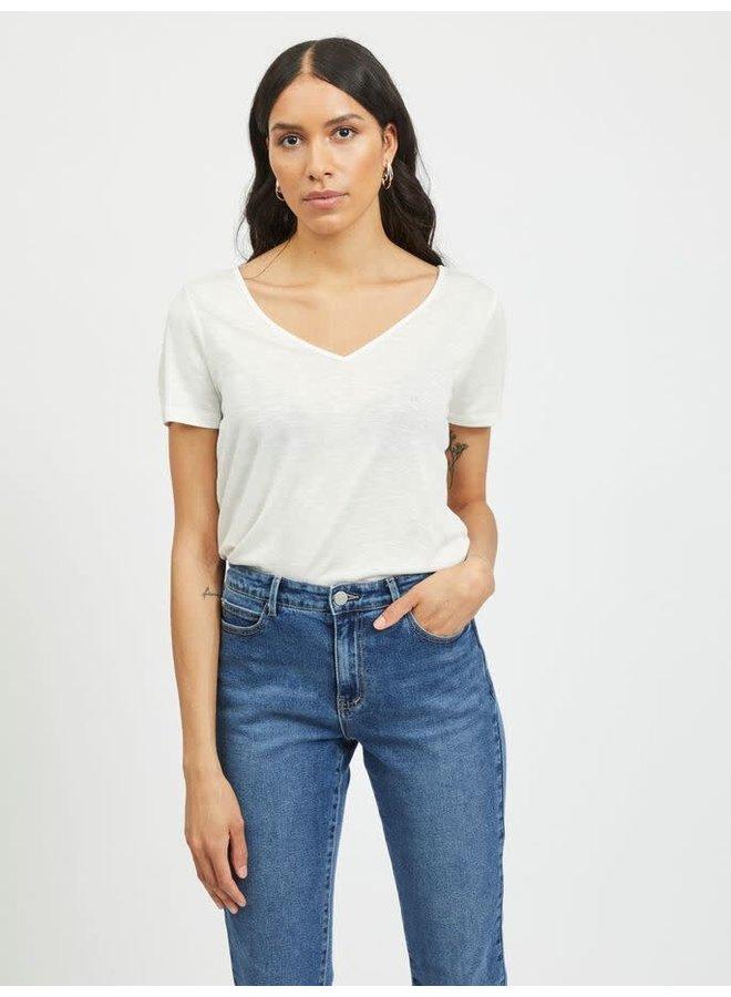 Vinoel V-neck T-Shirt White