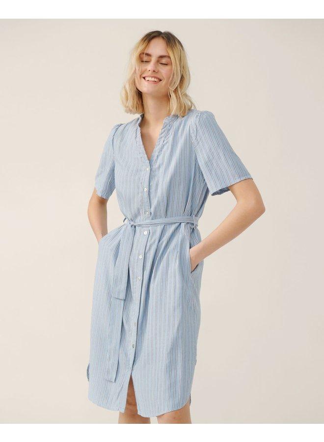 Makita Shirt Dress Blue