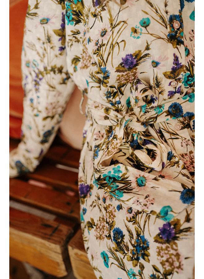 French Dress Flower Print