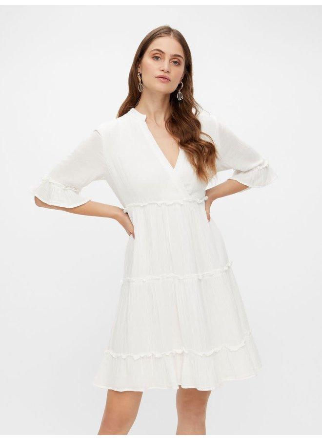 Yaslima Short Dress White