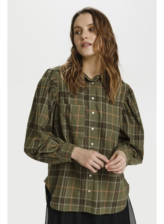 Hubba Blouse Army Green