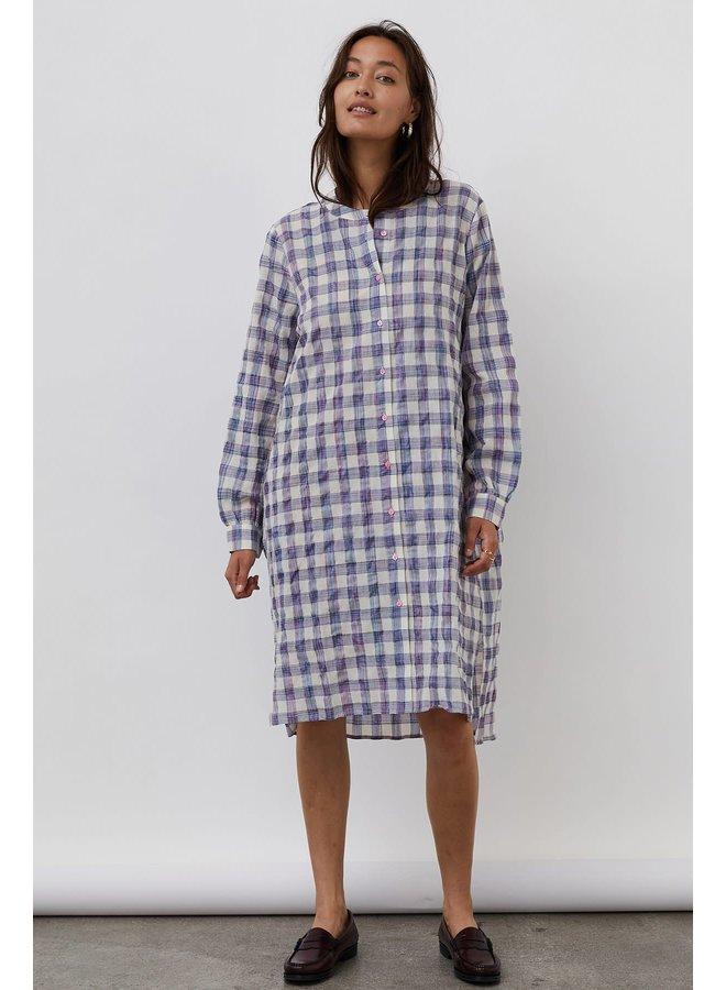 Vega Shirt Dress Check Print