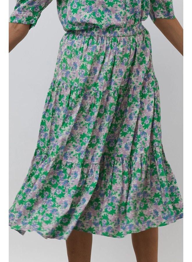 Morning Skirt Flower Print Green