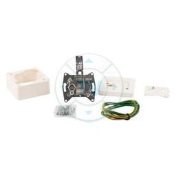 Hirschmann Antenne Wandcontactdoos (Signaalovernamepunt) - Wit 2.8 dB