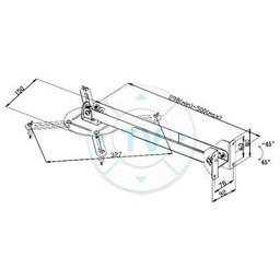 Valueline Projector Wall Mount Draai- en Kantelbaar 10 kg Zilver