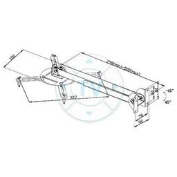 Valueline Projector Wall Mount Draai- en Kantelbaar 10 kg Zwart