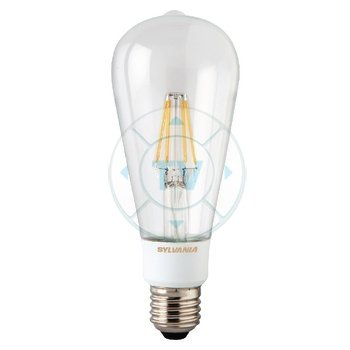 Dimbare Led Lamp Met Afstandsbediening.Sylvania Dimbare Retro Filament Led Lamp St64 E27 640 Lm