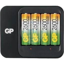 GP AA/AAA NiMH Batterij Lader 4x AA/HR6 2600 mAh
