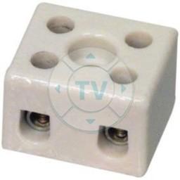 Fixapart Kroonsteen 1.50 mm² 2 - Polig Keramiek Wit