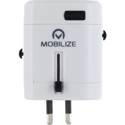 Mobilize Reisadapter Wereld USB Geaard