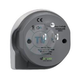 Q2 Power Reisadapter Wereld-naar-USA USB Geaard