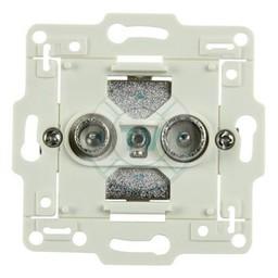 Hirschmann Antenne Wandcontactdoos (Doorvoer) - Wit 3.0 dB