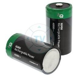 HQ Oplaadbare NiMH Batterij D 1.2 V 4000 mAh 2-Blister