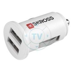Skross Autolader 2-Uitgangen 2.0 A USB Wit
