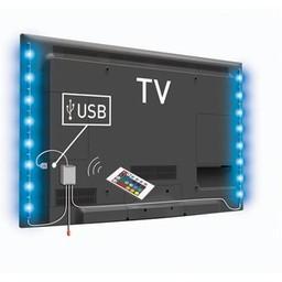 König USB TV-mood light LED 2 strips 50 cm RGB met afstandsbediening