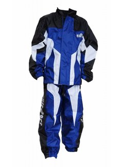 Wulfsport Regenbekleidung Wet Weather Over Jacket & Pants blue