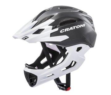 Cratoni C-Maniac Helm schwarz - weiss