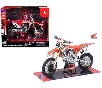 New Ray Honda Racing Team CRF450R Cole Seely #14 Motorcycle Model 1:12