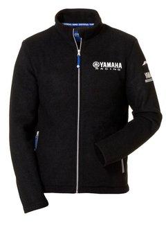 Yamaha Paddock Blue Fleece-Jacke für Herren schwarz