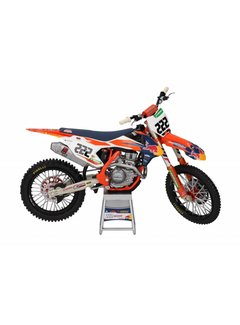 Sunimport KTM Racing Team 450 SX-F Antonio Cairoli #222 Motorcycle Model 1/12