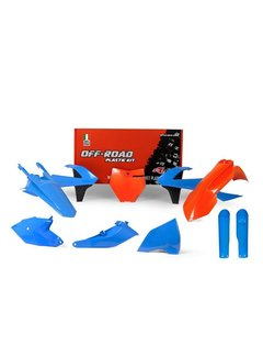 R-tech Plastikkit KTM SX 85 18- blau/orange 5tlg