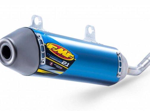 FMF Auspuff Powercore 2.1 Titanium blau für KTM SX125