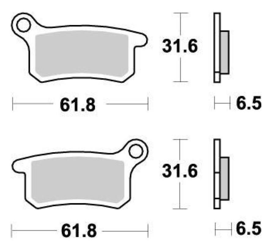 Bremsbelege Brakepad vorne/hinten für KTM SX64 Husqvarna TC65
