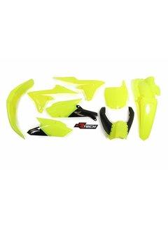 R-tech Plastikkit  YZF450F 14-17 / YZF250F 14-18 Neon Gelb 5tlg.